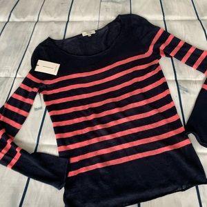 Aritzia Babaton Striped Sweater-100% Linen